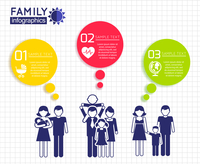 Infographics design with family parent children icons and color speech bubbles vector illustration 60016004150| 写真素材・ストックフォト・画像・イラスト素材|アマナイメージズ