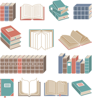 Open and closed book decorative icons color set isolated vector illustration. 60016004161| 写真素材・ストックフォト・画像・イラスト素材|アマナイメージズ