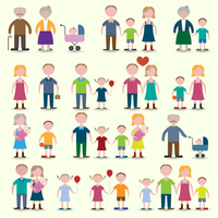 Family figures icons set of parents children couple isolated vector illustration 60016004167| 写真素材・ストックフォト・画像・イラスト素材|アマナイメージズ