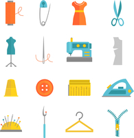 Sewing equipment and dressmaking accessories icons set with needle tape measure zipper flat isolated vector illustration 60016004197| 写真素材・ストックフォト・画像・イラスト素材|アマナイメージズ