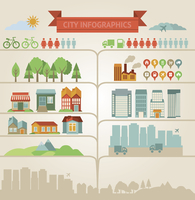 elements for infographics about city and village 60016004334| 写真素材・ストックフォト・画像・イラスト素材|アマナイメージズ