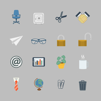 Business collection of flat stationery office supplies color icons isolated vector illustration 60016006010| 写真素材・ストックフォト・画像・イラスト素材|アマナイメージズ