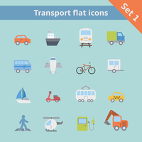 Transportation flat icons set of car truck bus pedestrian isolated vector illustration 60016006015| 写真素材・ストックフォト・画像・イラスト素材|アマナイメージズ