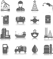 Oil industry gasoline processing symbols icons set with tanker truck petroleum can and pump isolated vector illustration 60016006056| 写真素材・ストックフォト・画像・イラスト素材|アマナイメージズ