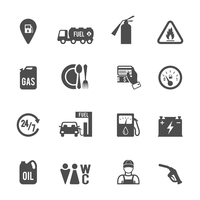 Gasoline diesel fuel pump service station convenience food store and WC icons set abstract isolated vector illustration 60016006430| 写真素材・ストックフォト・画像・イラスト素材|アマナイメージズ