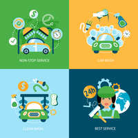 Business concept flat icons set of car wash best clean non stop auto service infographic design elements vector illustration 60016006522| 写真素材・ストックフォト・画像・イラスト素材|アマナイメージズ