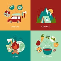 Business concept flat icons set of camping area adventure food and drink infographic design elements vector illustration 60016006526| 写真素材・ストックフォト・画像・イラスト素材|アマナイメージズ