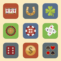 Casino color design elements with gambling poker roulette icons set isolated vector illustration 60016006695| 写真素材・ストックフォト・画像・イラスト素材|アマナイメージズ