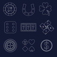 Casino flat design elements with shamrock horseshoe chip icons set isolated vector illustration 60016006732| 写真素材・ストックフォト・画像・イラスト素材|アマナイメージズ