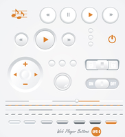 vector gray buttons for computing and web . vector grey buttons for computing and web  60016007057| 写真素材・ストックフォト・画像・イラスト素材|アマナイメージズ
