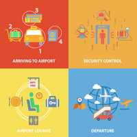 Business concept flat icons set with airport composition set of arriving security control lounge departure infographic design in 60016007154| 写真素材・ストックフォト・画像・イラスト素材|アマナイメージズ