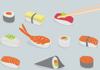 Vector background illustration of various types of sushi, iconic style 60016007702| 写真素材・ストックフォト・画像・イラスト素材|アマナイメージズ