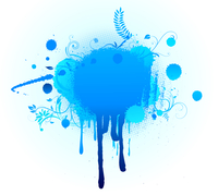 Vector illustration of Grunge Floral Background with big blue blot 60016007907| 写真素材・ストックフォト・画像・イラスト素材|アマナイメージズ