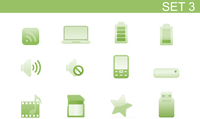 Vector illustration set of elegant simple icons for common computer and media devices functions.Set-3 60016008123| 写真素材・ストックフォト・画像・イラスト素材|アマナイメージズ