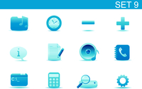 Vector illustration set of blue elegant simple icons for common computer and media devices functions. Set-9 60016008252| 写真素材・ストックフォト・画像・イラスト素材|アマナイメージズ