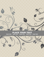 Floral background for design card - vector 60016008548| 写真素材・ストックフォト・画像・イラスト素材|アマナイメージズ