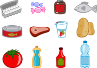 Vector illustration of food icons. You can decorate your website, application or presentation with it. 60016009269| 写真素材・ストックフォト・画像・イラスト素材|アマナイメージズ