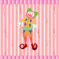 Vector illustration of clown juggling colorful playing card on the retro striped background 60016009360| 写真素材・ストックフォト・画像・イラスト素材|アマナイメージズ