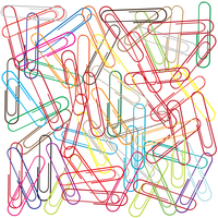 Vector illustration of funky background with a lot of paper clips - useful for school or office concepts 60016009580| 写真素材・ストックフォト・画像・イラスト素材|アマナイメージズ