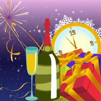 Vector illustration of Colorful new year party background. Design element for new-year congratulations. 60016009641| 写真素材・ストックフォト・画像・イラスト素材|アマナイメージズ