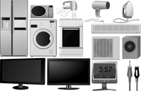 Big collection of vector images of household appliances 60016009740| 写真素材・ストックフォト・画像・イラスト素材|アマナイメージズ