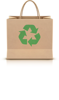 Vector illustration of environmentally friendly paper shopping bag with paper handles and green recycle logo on the front 60016012985| 写真素材・ストックフォト・画像・イラスト素材|アマナイメージズ