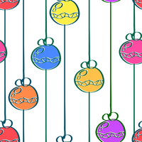 Bright seamless pattern with a garland in a simple style. Christmas. Vector illustration.  60016013648| 写真素材・ストックフォト・画像・イラスト素材|アマナイメージズ