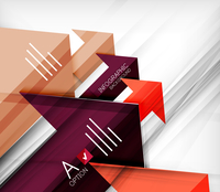 Infographic abstract background - arrow geometric shape. For business presentation | technology | web design 60016014043| 写真素材・ストックフォト・画像・イラスト素材|アマナイメージズ