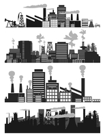 Factory5. Set of factories and factories. A vector illustration 60016022284| 写真素材・ストックフォト・画像・イラスト素材|アマナイメージズ