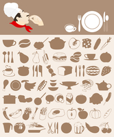 Food icon5. Set of icons on a meal theme. A vector illustration 60016022401| 写真素材・ストックフォト・画像・イラスト素材|アマナイメージズ