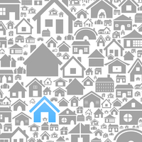 Background made of houses. A vector illustration 60016022732| 写真素材・ストックフォト・画像・イラスト素材|アマナイメージズ
