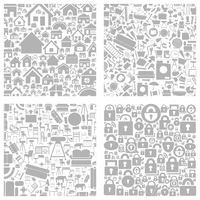 Background made of houses. A vector illustration 60016022733| 写真素材・ストックフォト・画像・イラスト素材|アマナイメージズ