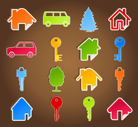 House icon5. Set of icons on a house theme. A vector illustration 60016022750| 写真素材・ストックフォト・画像・イラスト素材|アマナイメージズ