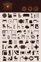 House icons. Set of icons on a house theme. A vector illustration 60016022754| 写真素材・ストックフォト・画像・イラスト素材|アマナイメージズ