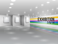 Exhibition announcement advertising invitation with blank canvases vector illustration 60016027559| 写真素材・ストックフォト・画像・イラスト素材|アマナイメージズ