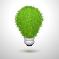 Green creative lightbulb innovation or ecology concept isolated vector illustration 60016027830| 写真素材・ストックフォト・画像・イラスト素材|アマナイメージズ