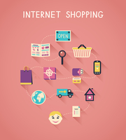 Internet marketing and online shopping infographics, how e-commerce website works vector illustration 60016027920| 写真素材・ストックフォト・画像・イラスト素材|アマナイメージズ