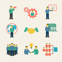 Flat business people meeting icons set of collaboration and teamwork isolated vector illustration 60016028095| 写真素材・ストックフォト・画像・イラスト素材|アマナイメージズ
