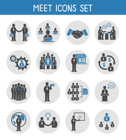 Flat business people meeting icons set of management and leadership isolated vector illustration 60016028098| 写真素材・ストックフォト・画像・イラスト素材|アマナイメージズ
