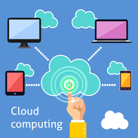 Cloud computing technology power button and connected gadgets of computer tablet mobile phone and laptop infographic vector illu 60016028245| 写真素材・ストックフォト・画像・イラスト素材|アマナイメージズ