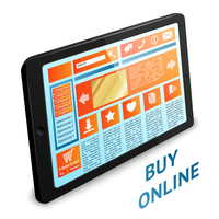 Internet shopping concept with touch tablet wireless gadget pc vector illustration 60016028665| 写真素材・ストックフォト・画像・イラスト素材|アマナイメージズ