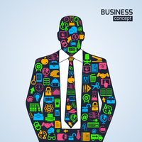 Businessman person business concept with finance marketing development icons vector illustration 60016029014| 写真素材・ストックフォト・画像・イラスト素材|アマナイメージズ