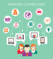 Social network connection concept with people online media and mobile devices vector illustration 60016029015| 写真素材・ストックフォト・画像・イラスト素材|アマナイメージズ