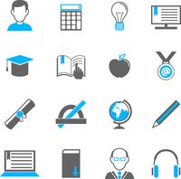 Education school university e-learning icons set of graduation diploma student teacher isolated vector illustration 60016029102| 写真素材・ストックフォト・画像・イラスト素材|アマナイメージズ