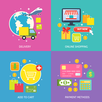 Business process concept of online internet shopping payment delivery flat icons set vector illustration 60016029242| 写真素材・ストックフォト・画像・イラスト素材|アマナイメージズ