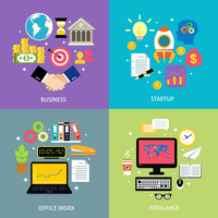 Business workflow types concept startup office work process freelance icons set flat isolated vector illustration 60016029256| 写真素材・ストックフォト・画像・イラスト素材|アマナイメージズ