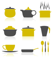 Ware icons2. Set of icons on a theme kitchen. A vector illustration 60016029599| 写真素材・ストックフォト・画像・イラスト素材|アマナイメージズ