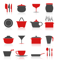 Ware icons4. Set of icons on a theme kitchen. A vector illustration 60016029601| 写真素材・ストックフォト・画像・イラスト素材|アマナイメージズ