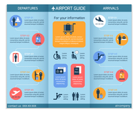 Airport business infographic brochure template with security check workflow steps vector illustration 60016029713| 写真素材・ストックフォト・画像・イラスト素材|アマナイメージズ
