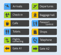 Airport navigation design signboard set with plane arrival departure passport and luggage control icons isolated vector illustra 60016029715| 写真素材・ストックフォト・画像・イラスト素材|アマナイメージズ
